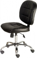 Chromed Base Leather Task Chair